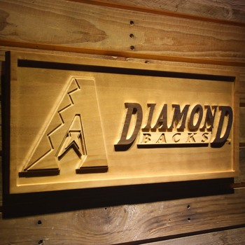 Arizona Diamondbacks 3D Ahşap Işareti